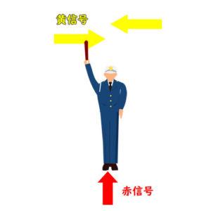 信号 警察 官 手